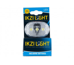 Koplamp op batt Ikzi white light 3 led 20 in doos 1420325N