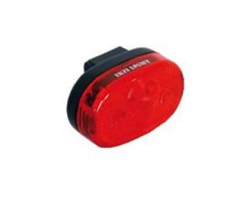 Achterlicht Ikzi met 3 led kaart gekeurd Reflector + batterij aan/uit zadelpenbev